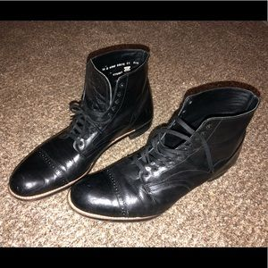 Stacey Adams Black Leather Boot sz. 14